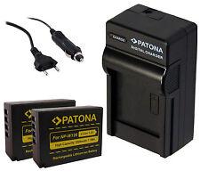 2 x Akku  NP-W126  Patona + Ladegerät  für FujiFilm  FinePix HS30EXR, HS33EXR