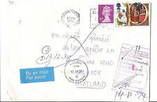 GB 1991 Dead Letter to Thailand, returned to Sender (bak)
