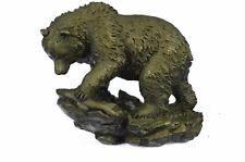 Vienna Bronze Original Black Bear Home Cabin Decor Bronze Sculpture Figurine Art