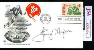 Johnny Majors JSA Coa Hand Signed 1969 FDC Cache Tennessee Autograph