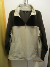 Tek Gear Mens Pullover Fleece Jacket XXL 2X NWT Polyester Brown & Beige