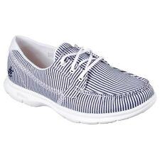 Zapatos planos de mujer textiles Skechers color principal azul