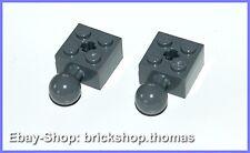 Técnica Lego 2x Piedras Con Bola 2x2-57909 - Ladrillo Dark Bluish Gris - NUEVO /