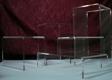 Assorted Acrylic 5-Piece Riser Set - Durable 1/4 Thick