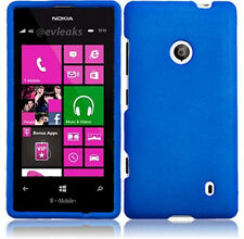 For Nokia Lumia 521 Rubberized HARD Case Snap On Phone Cover Accessory Blue