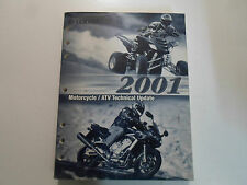 2001 Yamaha Motorcycle Atv Technical Update Shop Manual Oem Factory Book 01