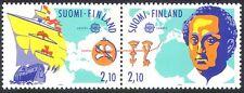 Finlandia 1992 Europa/Columbus/barcos/barcos/Navegación/transporte/personas 2v pr (n40956)