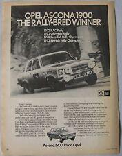 1973 Opel Ascona 1900 Original advert