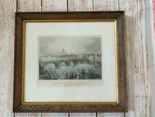 Vintage E I ROBERTS & W H BARTLETT - FRAMED picture art print of London