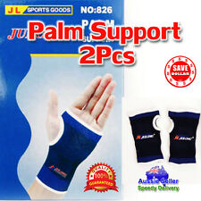 1 Pair 2pc Palm Wrist Protection Brace Guard Wrap Pain Support Sports Gym Strap