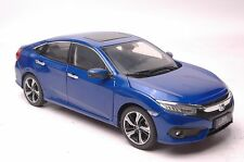 Honda Civic 2016 car model in scale 1:18 blue