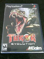 Turok Evolution Sony PlayStation 2 Game PS 2 Booklet Dinosaurs Mature Blood Play
