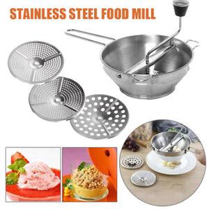 Kitchen Food Mill Vintage Masher Ricer Strainer Handle Potato Durable Grater