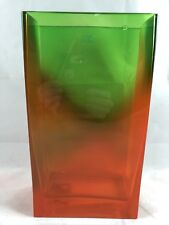 Poland imported heavy glass rectangle flower vase home decor dining table #31