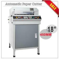 "18"" 450mm Automatic Electric Paper Cutter Cutting Machine Power-off protection"