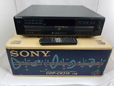 Sony CDP-CE315 Carousel CD Changer Player 5 Disc with remote and box - tested