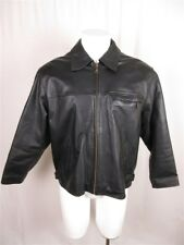 Wilsons Leather Men's sz L Black Thinsulate Zip Down Long Sleeve Leather Jacket