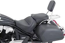 """Mustang Motorcycle 2 Piece Wide Vintage Seat Black 17"""" For Honda VTX1300C 76191"""