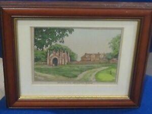 Vintage Print c 1910 of Erwarton Hall and Gateway Suffolk