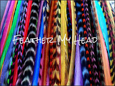 "Feather Hair Extensions Wholesale Lot Of 100 Long 9"" to 12' (22.86cm - 30.48cm)"
