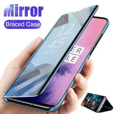 For Samsung S21 Ultra Note 20 S20 S9 A52 A21S A72 Mirror Leather Flip Stand Case