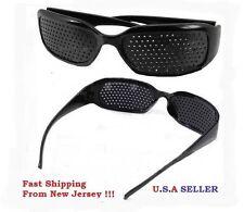 Black Eyesight Improvement Vision Care Exercise Eyewear hole Glasses TrainingUSA