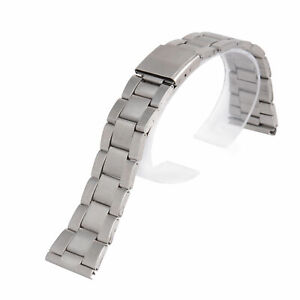 New 12/14/16/18/20/22/24mm Silver Stainless Steel Straight End Watch Band Strap