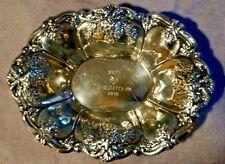 Antique Wallace Silverplate Footed Bon Bon Bowl  - St Regis -  #9720 -Year 1968-