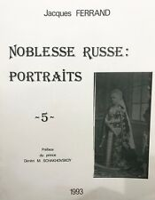 Noblesse Russe Portraits Vol. 5 - A Book Of Photographs From Imperial Russia