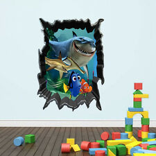 Finding Nemo 3D View Wall Sticker Children Bedroom Nursery Decor Art Mural Decal