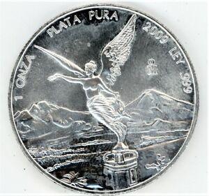 2009 1 Onza Plata Pura .999 SILVER MEXICAN LIBERTAD