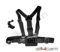 Chest Mount Chesty Harness fits GoPro 1 2 3 3+ 4 5 6 with J-Hook mount and screw