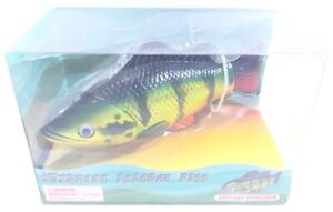 """Swimming Peacock Bass 8"""" Fish Kids Toy Battery Powered w/ On - Off Switch Age 4+"""