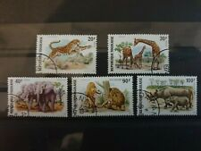 Togo 1974 Wild animals  5 stamp set CTO