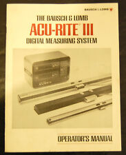 Acu Rite III Digital Measureing System Operators Manual