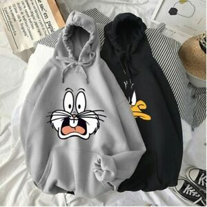 Cartoon Hoodies Cute Pullover Hoodie Men Women Streetwear Sweatshirt