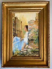Jeune fille huile sur toile, signée Raymonde Carrier
