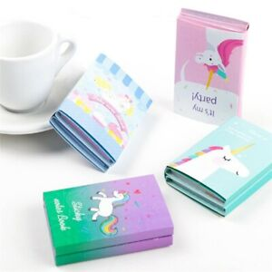 1 Pcs Unicorn Memo Pad Cartoon Animal Sticky Notes Pad for School Stationery