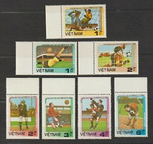1985 Vietnam Stamps World Cup Soccer Mexico City Sc # 1576-1582 MNH