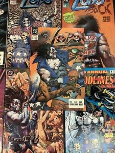 LOBO #1 DC 8 ISSUE Comic Book LOT BACK ANNUAL CONTRACT GAWD BLAZING CHAIN MR