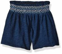 Flapdoodles Baby Girls Knit Short, Navy, 12M