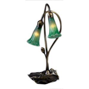 Meyda Lighting 16'H Green Pond Lily 2 Lt Accent Lamp - 13481