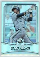 2010 Bowman Platinum REFRACTOR #7 RYAN BRAUN (Brewers) *872/999 NM