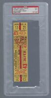 VINTAGE 1954 ORIOLES @ NEW YORK YANKEES FULL TICKET - MICKEY MANTLE PSA 7 - 7/15