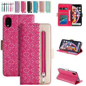 Girl Lace Leather Wallet Case Bow Strap For iPhone 13 12 11 Pro Max XR XS 6/7/8+