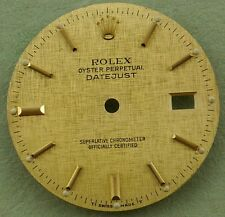 Original Rolex Mens Datejust Quickset Texture Dial  for Gold and Steel Watch