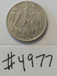🇮🇳🇮🇳 1951 India 1/4 Rupee Coin 🇮🇳🇮🇳