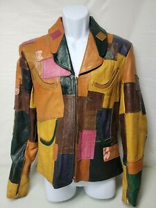 Vintage 60s Gandalf The Wizard Detroit East West Style Patchwork Leather Jacket