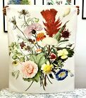 Vintage Style Flower Botanical Art Tapestry, 37x28'' Aesthetic Fabric Poster