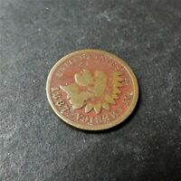 1880 Indian head Cent BN Red Toning  RG901